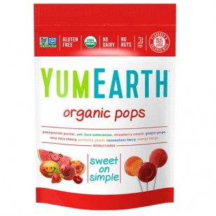 YUM EARTH ORGANIC ASSORTED FLAVOR LOLLIPOPS (50pcs)