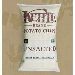 KETTLE POTATO CHIPS-UNSALTED 142g