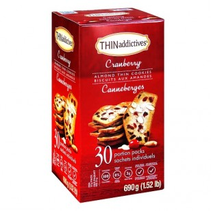 THINaddictives Cranberry Almond Thin Cookies (30packs)
