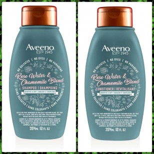 AVEENO SHAMPOO (ROSE WATER & CHAMOMILE BLEND) FOR SENSITIVE AND SOFT HAIR